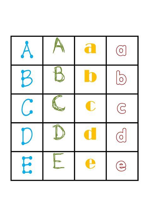 iteacher printable alphabet games memory letter tiles