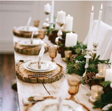 Weihnachtliche Tischdeko Holz tischdeko mit holz gem 252 tliche atmosph 228 re zum feiern