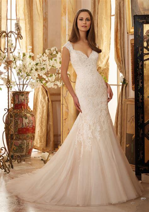 crystal beaded lace  net wedding dress style