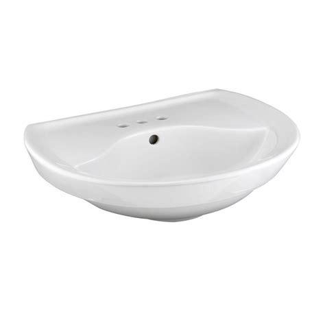 American Standard Ravenna Pedestal Sink Basin with 4 in