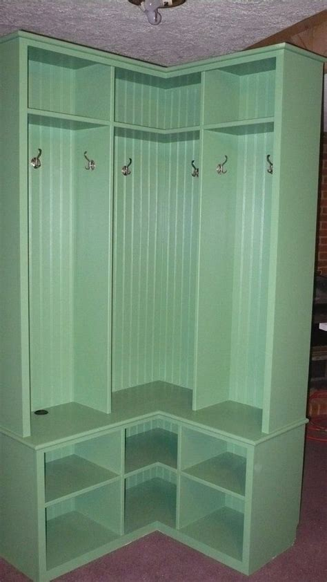 ideas  small corner mudroom  pinterest