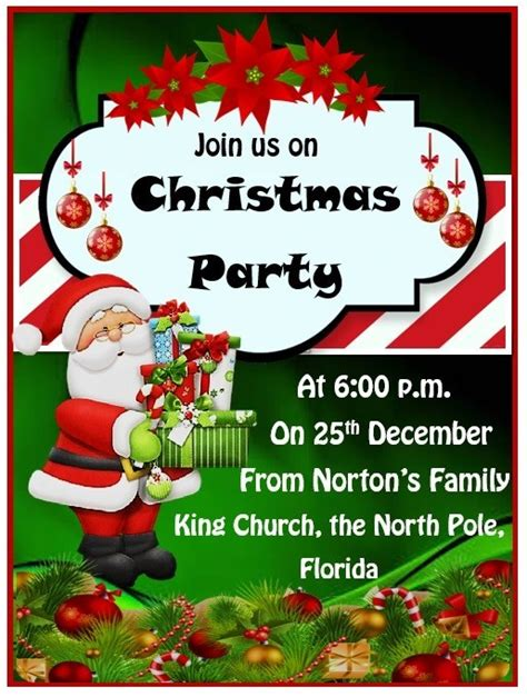 15+ Free Christmas Party Invitation Templates MS Office
