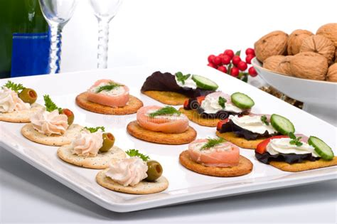 fresh canapes tray of fresh canapes stock photography image 6545562