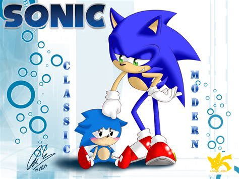 sonic classic and modern by chipo811 on deviantart