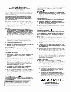 Acurite 00734 Thermometer User Manual