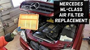 Mercedes W163 Engine Air Filter Replacement Removal Ml320