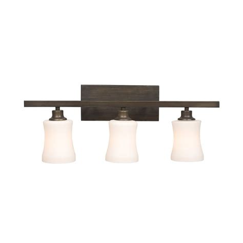 bronze bathroom vanity lighting shop galaxy delta 3 light 9 25 in rubbed bronze bell
