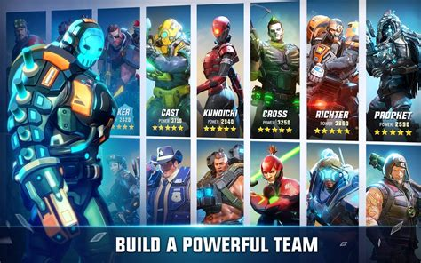 hero hunters mobile team based hero shooter launches