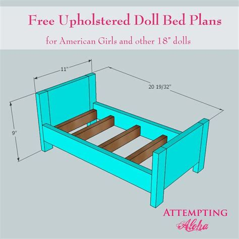build  upholstered doll bed    plans