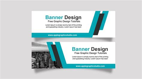 business banner ad design tutorial photoshop cc youtube
