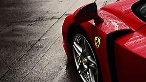 Cars Ferrari Ferrari Enzo Ferrari Logo Rain Wheel