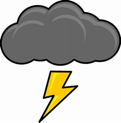 Cloud Lightning Bolt Clip Clipart Clker