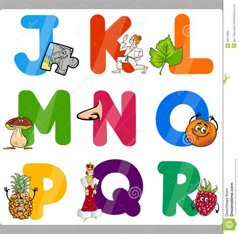 igor zakowski dreamstime in images 547 | education cartoon alphabet letters kids illustration funny capital objects language vocabulary children j to 33014395