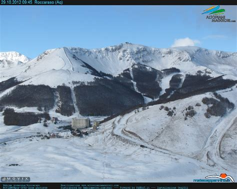 aremogna web prima neve sulle stazioni invernali