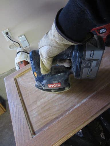 sanding kitchen cabinet doors  priming