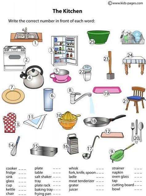 kitchen safety worksheets  students worksheets master