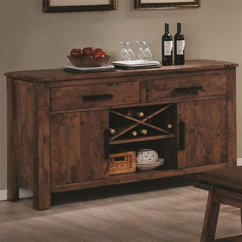 rustic kitchen islands and carts coaster maddox 103475 brown wood buffet table in los