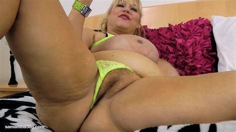 Old Busty Bbw Slut Samantha 38g Drills Pussy With Sex Ru