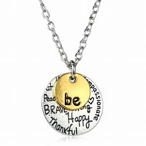 two tone gold quotbequot graffiti charm necklace engraved letter With engraved letter necklace
