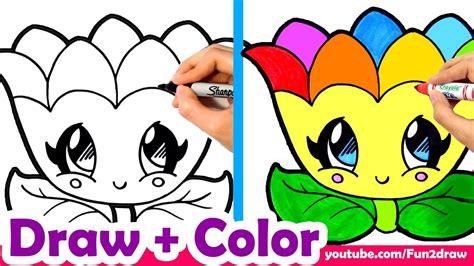 learn  draw  rainbow flower  mom mum cute easy