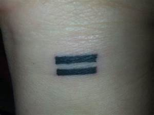 Equal Symbol Tattoo | www.pixshark.com - Images Galleries ...