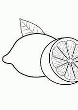 Coloring Fruits Pages Lemons Lemon Fruit Printable Drawing 4kids Easy Drawings sketch template