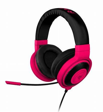 Neon Razer Headset Kraken Gaming Purple Headphones