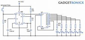 Electronic Dice Circuit Using Ic Cd4017