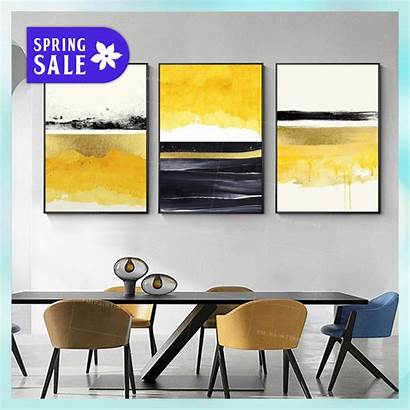 Seascape Abstract Painting Yellow