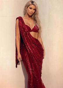 Kim Kardashian West sizzles in a RED shiny saree, view PIC