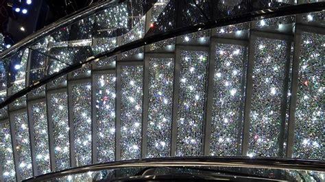 msc meraviglia  atrium  swarovski stairs youtube
