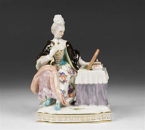 antique porcelain figurine table ls meissen porcelain figurine of lady at dressing table pia