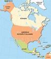 észak és Dél Amerika Térkép   Térkép