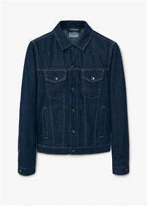 Lyst - Mango Dark Denim Jacket in Blue for Men