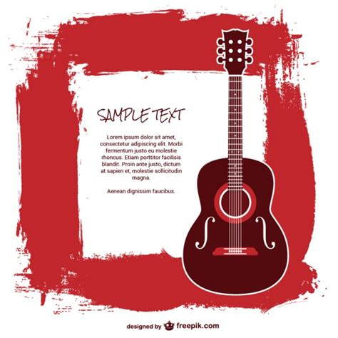 Editar Template De Texto Psd by Plantilla Guitarra Con Texto Descargar Vectores Gratis