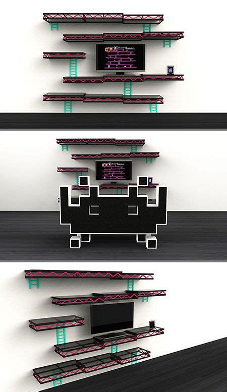 Geeky Donkey Kong Shelves Look Just Like A Level From The