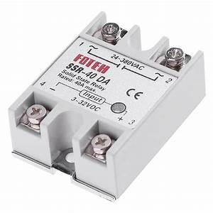 Single Phase Dc 3 32v To Ac 24 380vac Ssr 40da 40a Solid