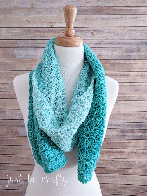 green meadows crochet scarf pattern