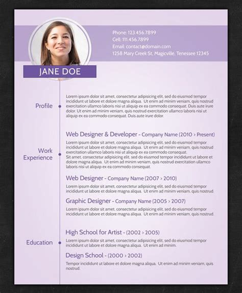 Unique Resume Templates For Freshers by Cv Templates Http Www Cpsprofessionals Resumes Cover Letters Creative