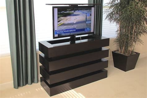 any room bedroom end of bed tv lift pop up tv lift cabinet cabinets matttroy