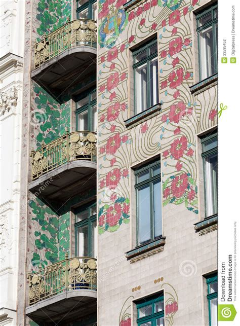 The Nouveau Of Otto Wagner Otto Wagner Architectuur Jugendstil Stock Foto