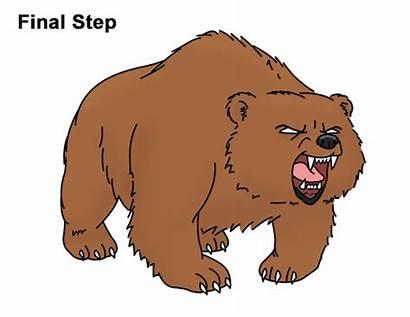 Bear Cartoon Angry Draw Roaring Growling Mean