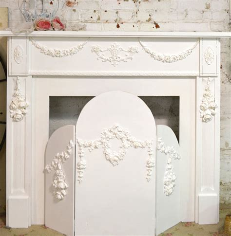 shabby chic screen painted cottage shabby chic fireplace screen screen 179 00 the painted cottage vintage