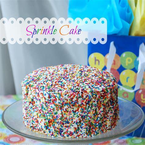 sprinkle cake endlessly inspired