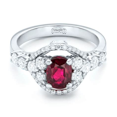 custom ruby and engagement ring 102900 seattle bellevue joseph jewelry