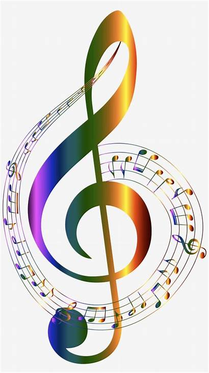 Notes Background Transparent Colorful Musical Clip Chromatic