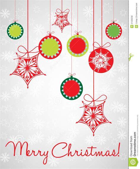 christmas globes decorative card royalty free stock photos
