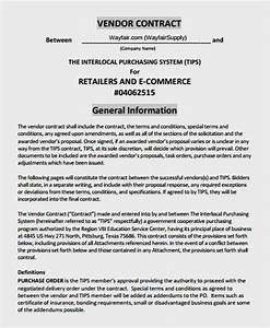 Doc585610 sample vendor contract 10 vendor agreement for Vendor terms and conditions template