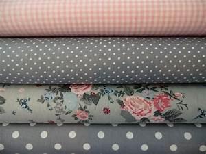 Stoffe Zum Nähen Kaufen : stoffpaket punkte rosen 4 x 0 5 m grau wei rosa cottage quilts and fabric stoffe stoffe ~ Buech-reservation.com Haus und Dekorationen