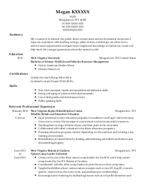 Horticulturist Resume by Resources And Agriculture Horticulture And